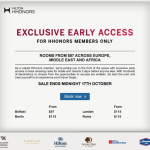 Targeted Hilton Offer – Rooms as Low as $87 through October 17th