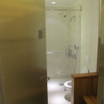 Entrance to the Showers at the Air France Paris CDG Airport Lounge