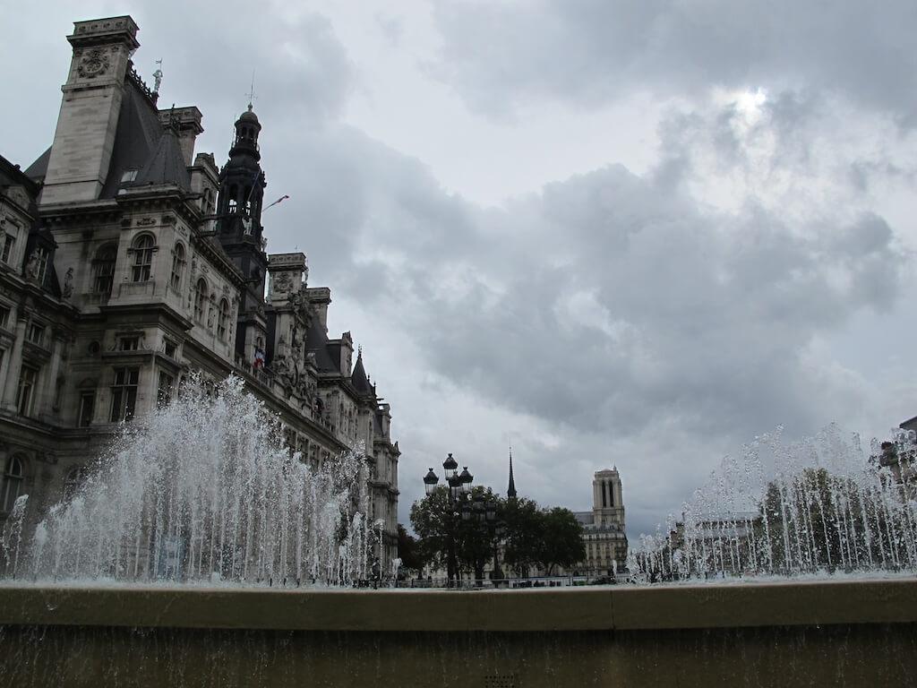 Fountains outside a Paris Museum
