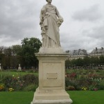 Odd Statue in the Gardens outside the Louvre