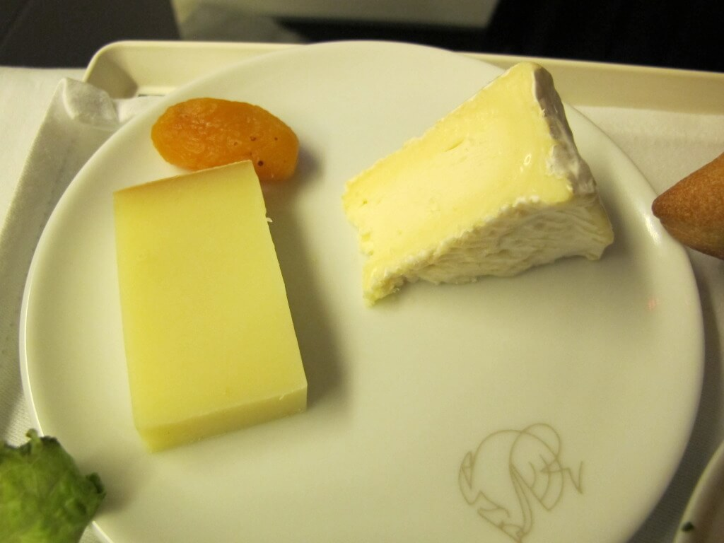 Selection of Cheeses on Air France
