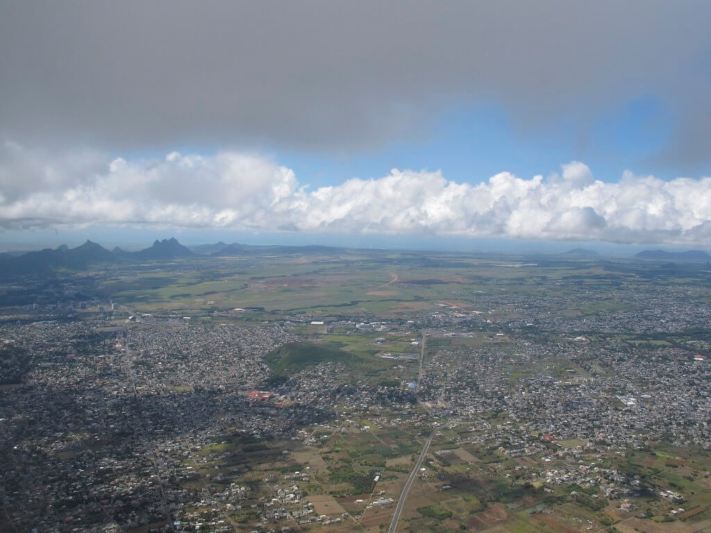 Breaking Through the Clouds to see Mauritius for the First Time