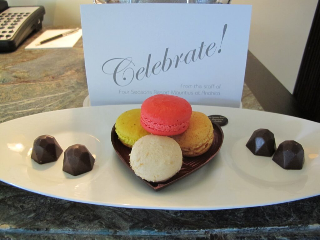 Welcome Amenity at the Four Seasons Mauritius