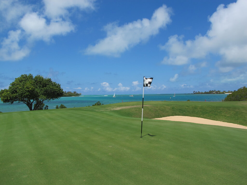 Golfing the Four Seasons Mauritius at Anahita