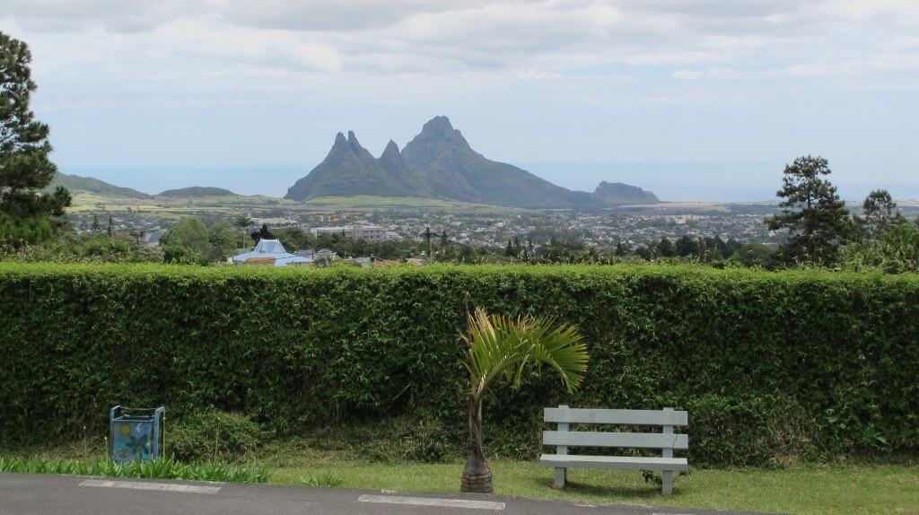 View of Mauritius from one mountain to another