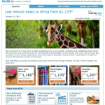 Want to Visit Africa? KLM Has some Last Minute Deals to Africa