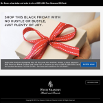 Four Seasons Black Friday Deal for 2012: Enter to Win $2,500 Gift Card
