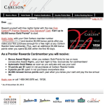 Reader Question: Club Carlson Credit Card Signup Bonus