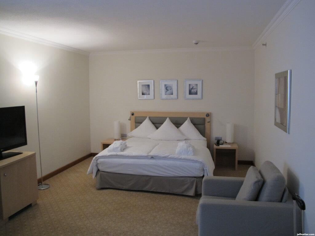 King Sized Bed at Hilton Munich City