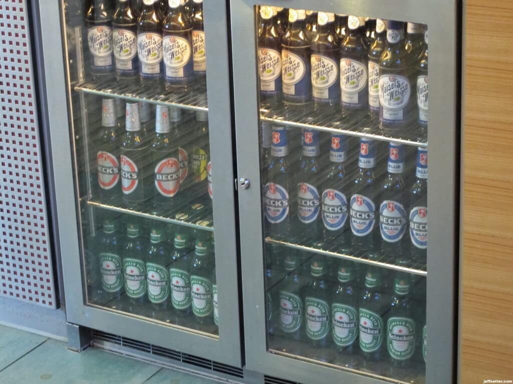 Beer selection at Hilton Munich City