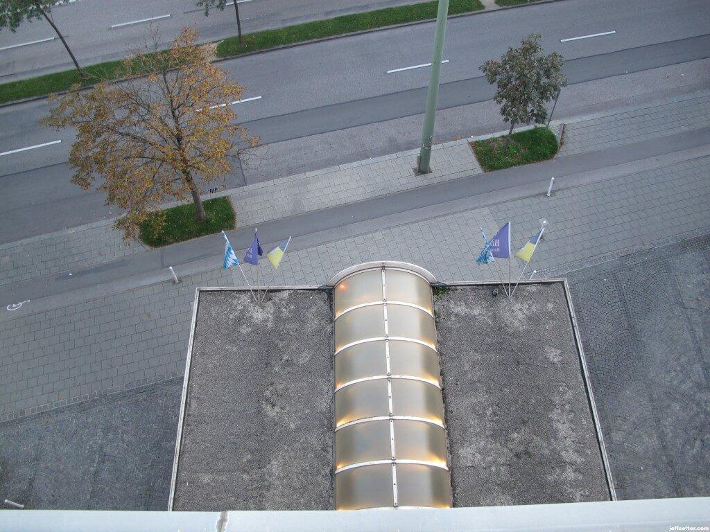 View from Hilton Munich City Lounge