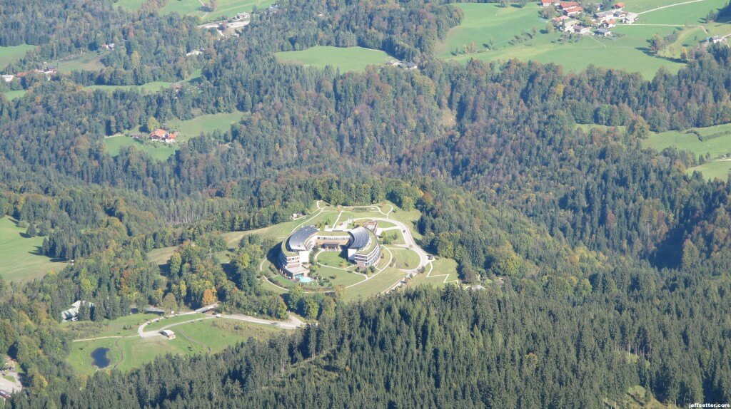 View of the Intercontinental Berchtesgaden from Hitler's Eagles Nest