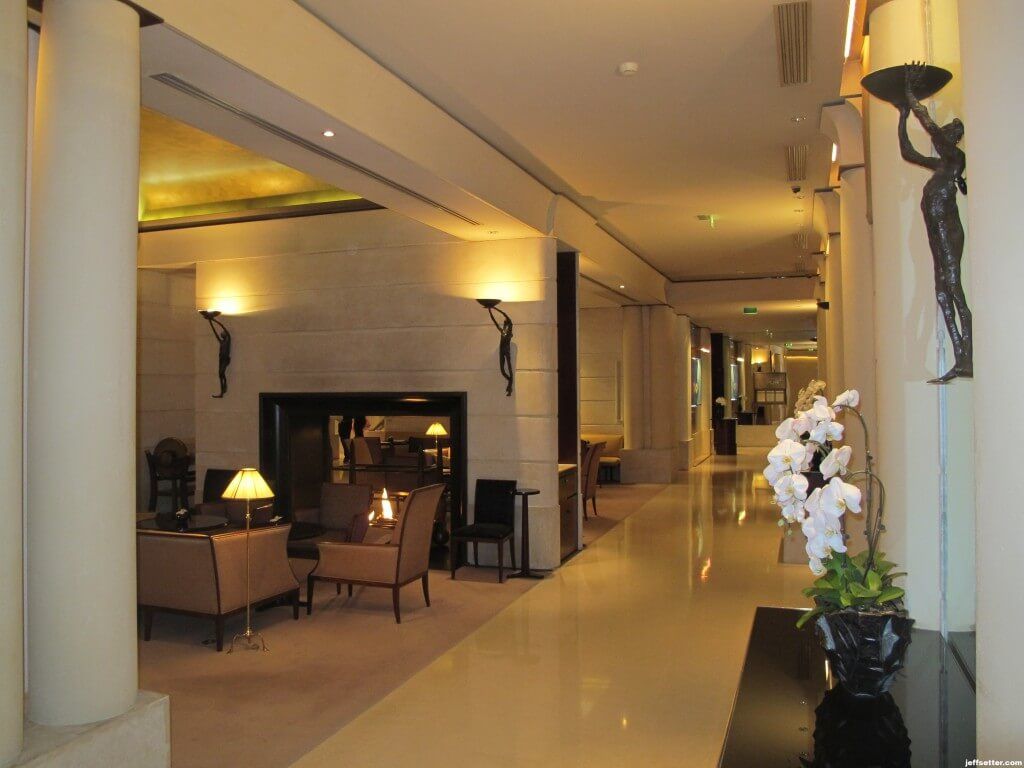 Entry area to resort