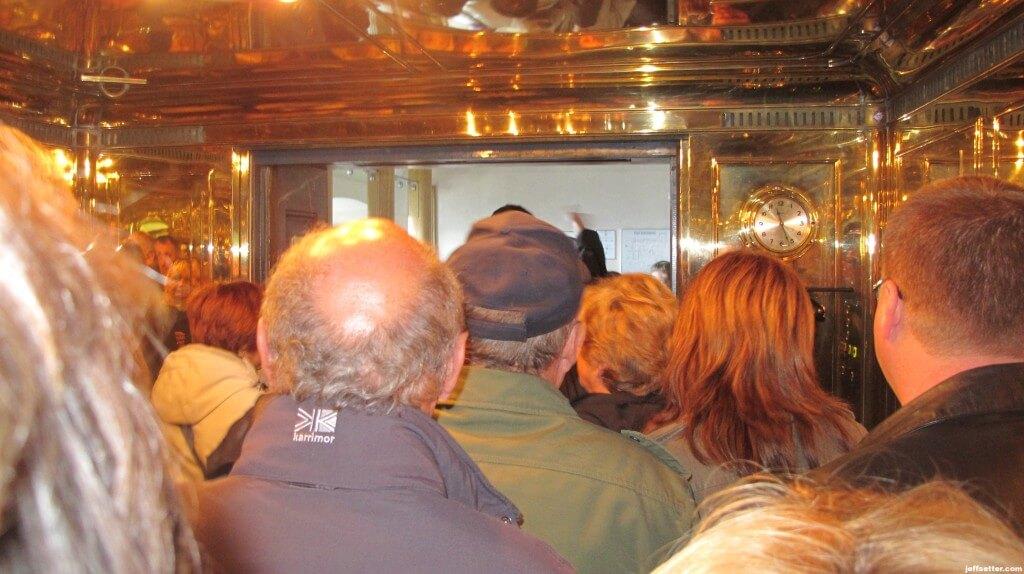 Scary Elevator Ride with everyone speaking German