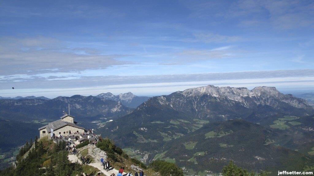 Eagles Nest on its Perch overlooking Berchtesgaden