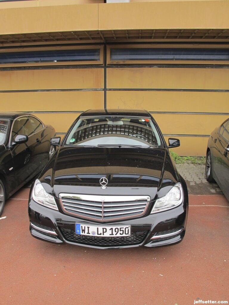 Our rental car to Berchtesgaden