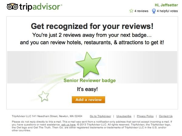 Trip Advisor Badge Email