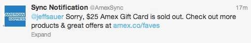 Amex Twitter Rejection