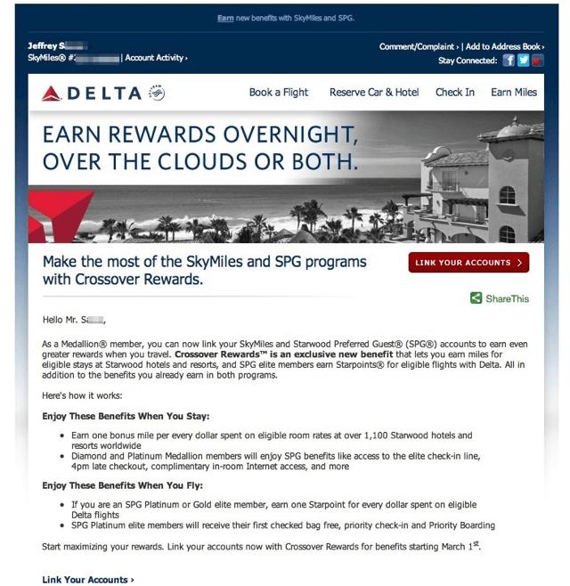 Delta SPG Crossover Rewards