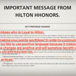 Goodbye Hilton Honors Program