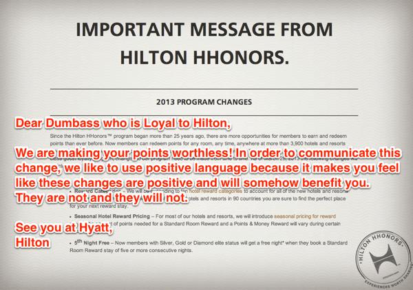 Hilton Honors Dumbass