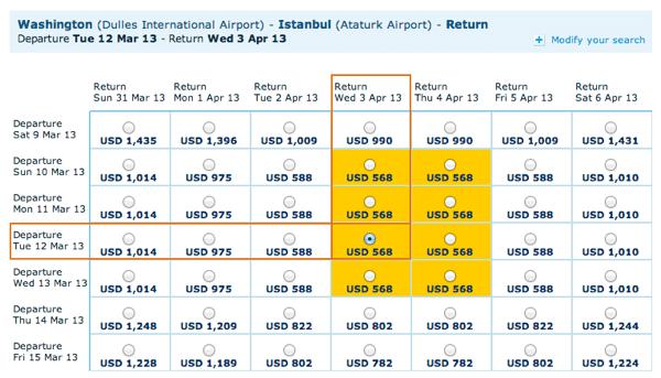 IAD to IST Airfare on KLM