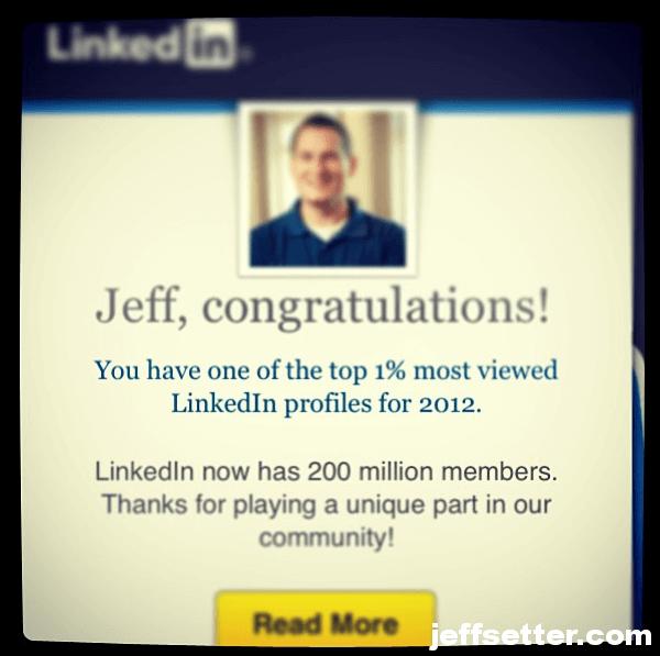 LinkedIn 1% Jeff Sauer