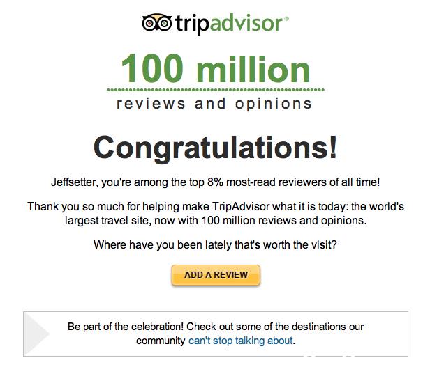 TripAdvisor Top Reviewer