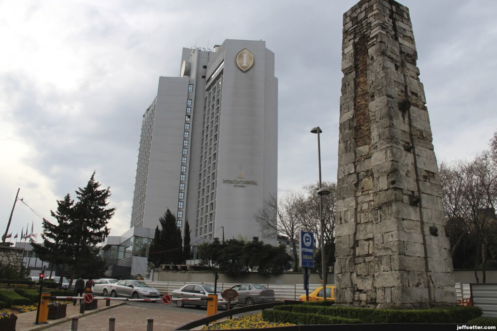 View of Intercontinental Istanbul on our Walk