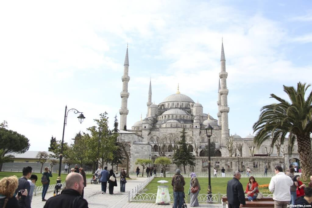 First view of Blue Mosque