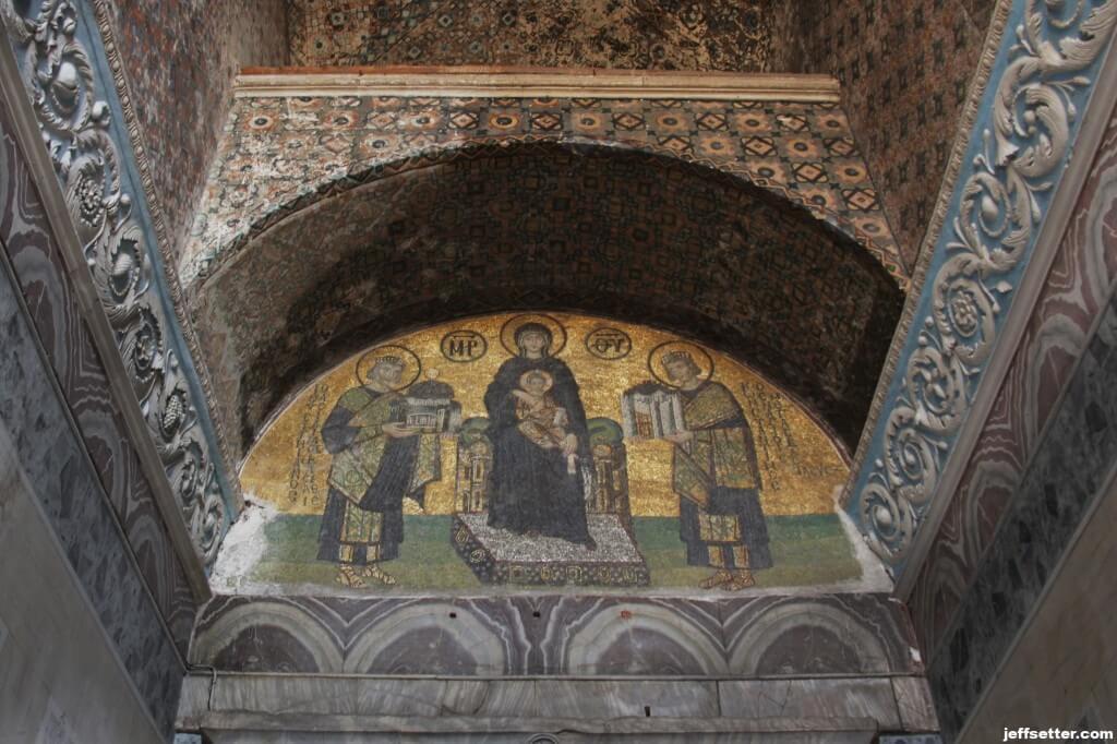 Mosaics entering Hagia Sofia