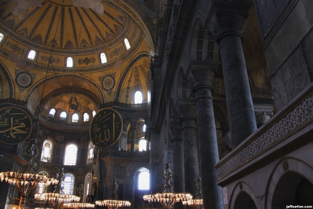 Beautfiul walls in Hagia Sofia