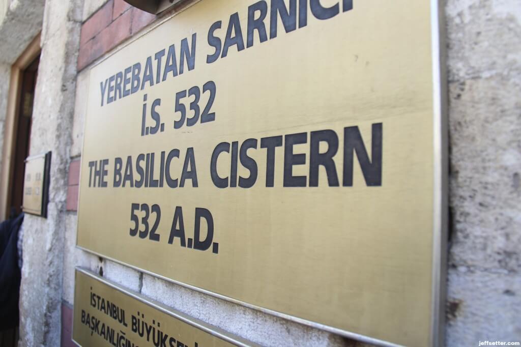 Entering Basilica Cistern