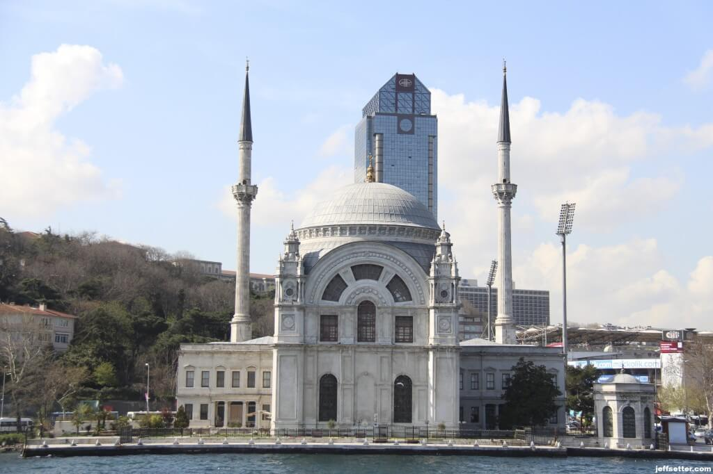 Mosque and Ritz Carlton Istanbul