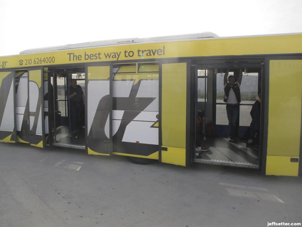 Bus Bringing Us to Terminal