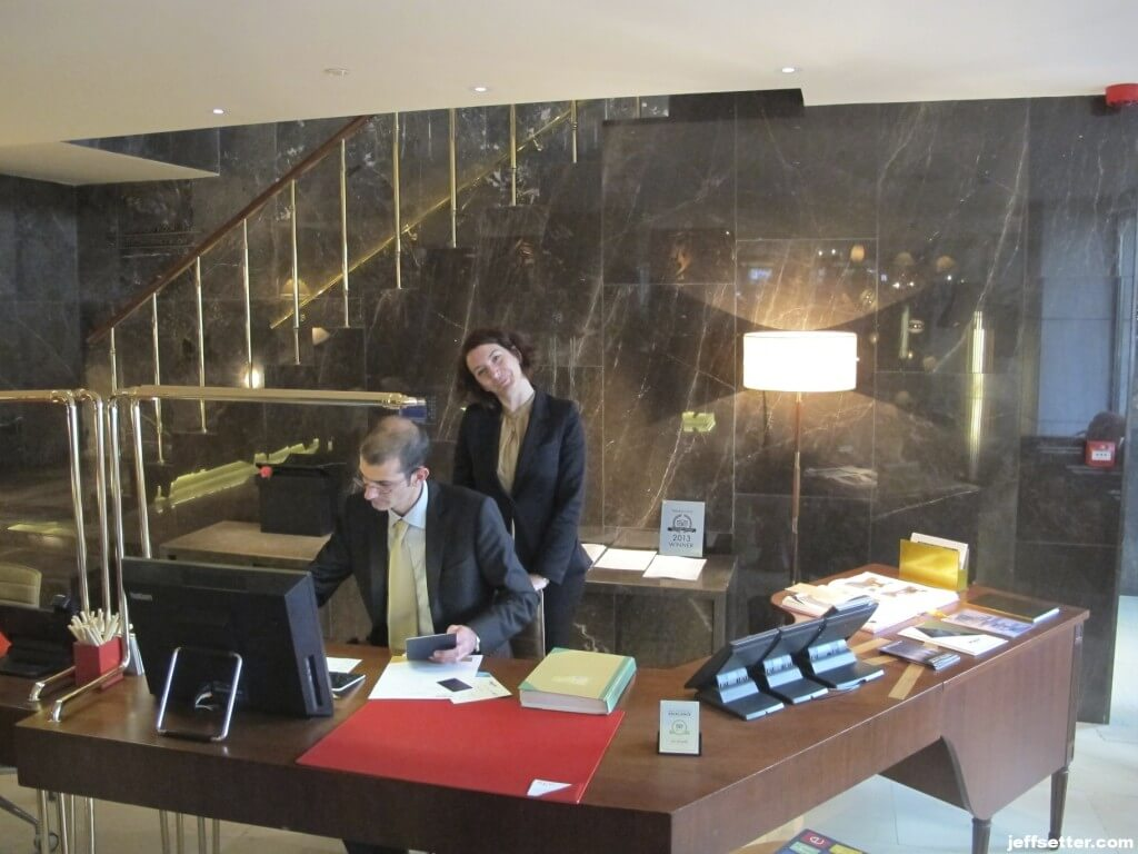 Checkin process at the New Hotel