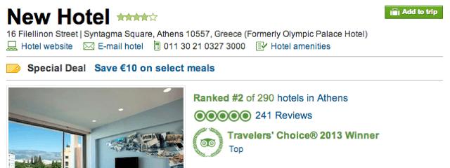 New Hotel Athens Tripadvisor
