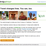 TripAdvisor Offers Free Kiva Loans After Posting Reviews in Countries of Need