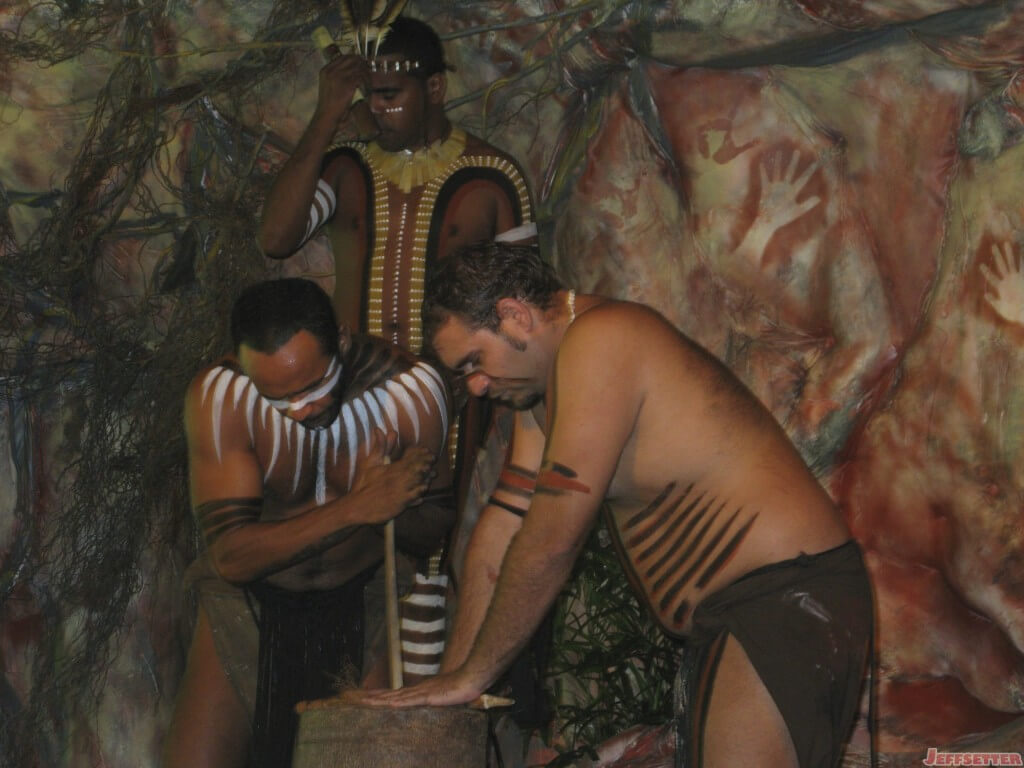 Aboriginal People (maybe) making fires