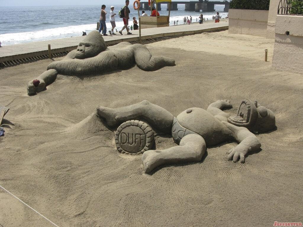 Sand Sculptures in Vina Del Mar, Chile