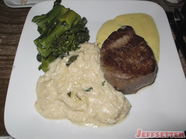 Beef Tenderloin with Rissoto and Broccoli