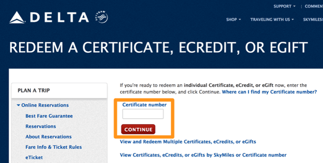 delta e gift card using delta gift certificates to meet minimum credit card 9719