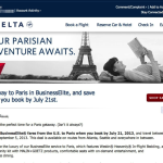 Delta Summer Business Class Fare Sale From USA to Paris, Not Really a Sale
