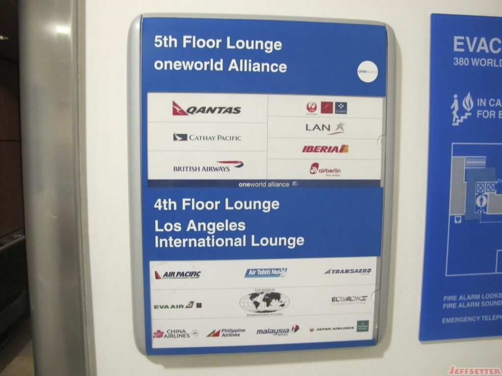 The Lounge is Shared by Many Airlines