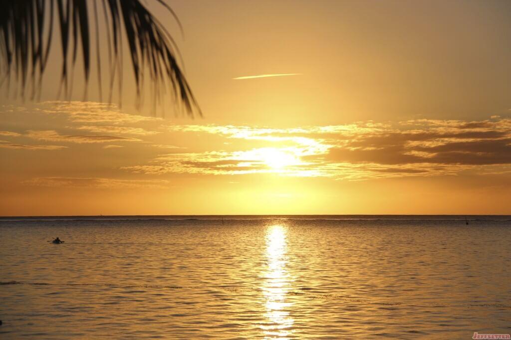 Orange Sunset from the Beach