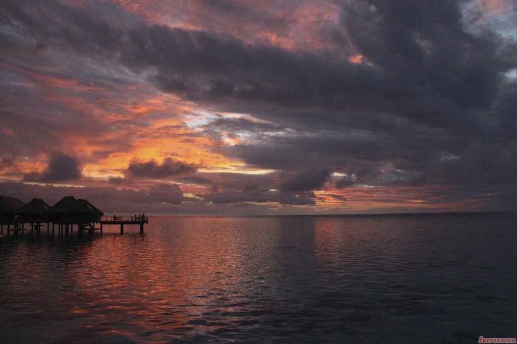 Moorea Sunset - Violent Purple
