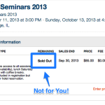 Giveaway: Win a Free Ticket to the Chicago Seminars in October, 2013