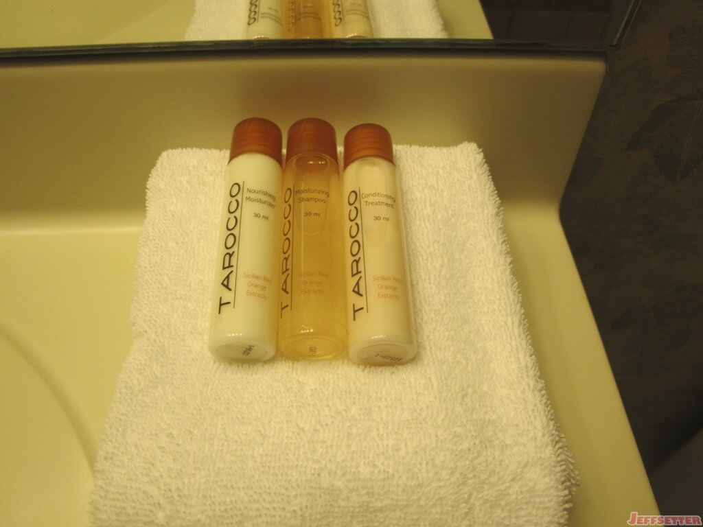 Toiletries at the Madison Hotel