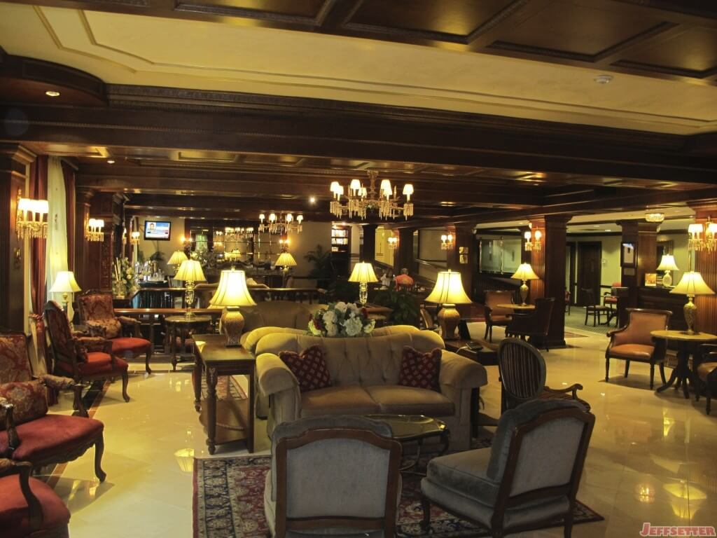 View of Lobby from entrance, Breakfast in the back left corner