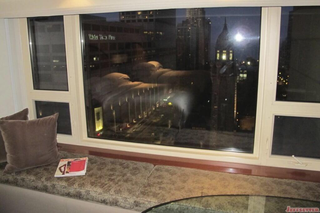 Reading area along the window